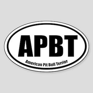 APBT Oval Euro Sticker