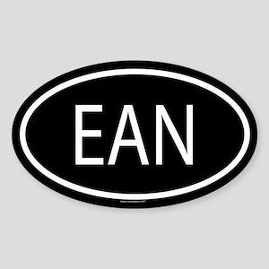 EAN Oval Sticker