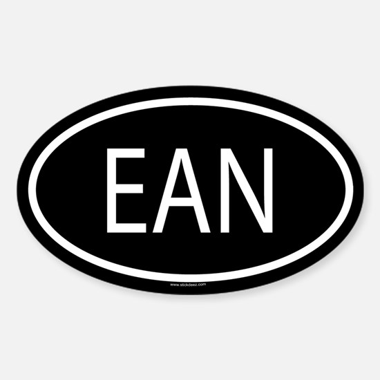 EAN Oval Decal