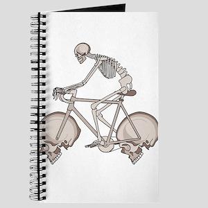 Skeleton Riding Bike With Skull Wheels Journal