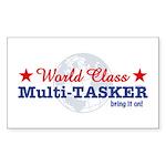 World Class Multi-Tasker Rectangle Sticker