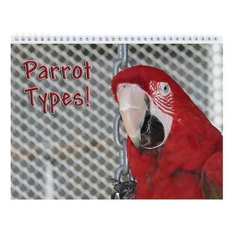 Helaine's BlueOrange Parrot Wall Calendar
