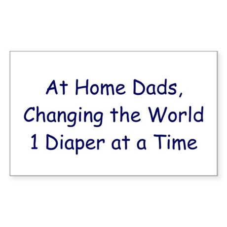 At Home Dad Rectangle Sticker