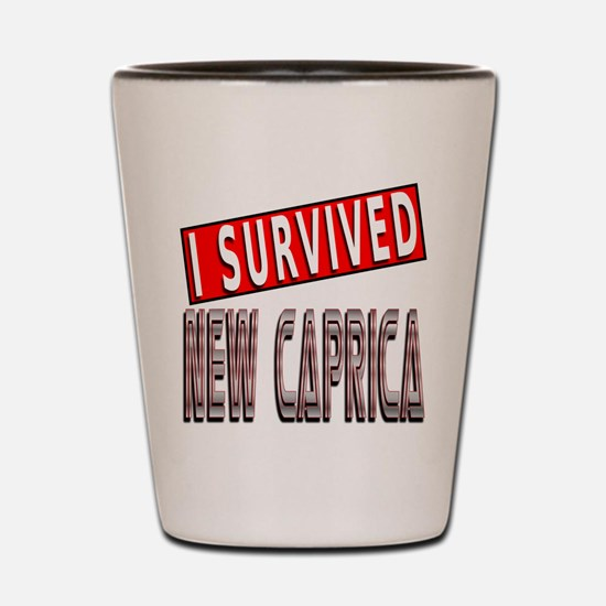 I Survived New Caprica Shot Glass