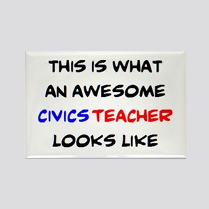 awesome civics teacher Rectangle Magnet