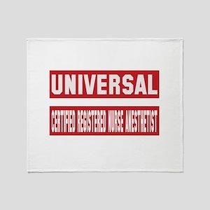 Universal Certified Registered Nurse Throw Blanket