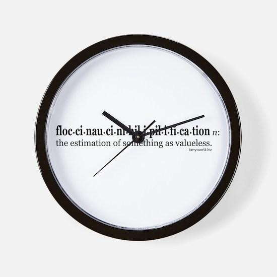 Floccinaucinihilipilification Wall Clock