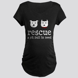Rescue a Pit Bull Maternity Dark T-Shirt