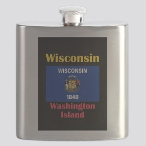 Washington Island Wisconsin Flask