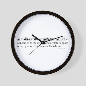 Antidisestablishmentarianism Wall Clock