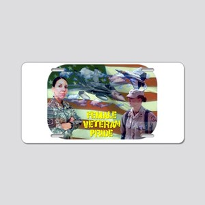 femaleveteranpride Aluminum License Plate