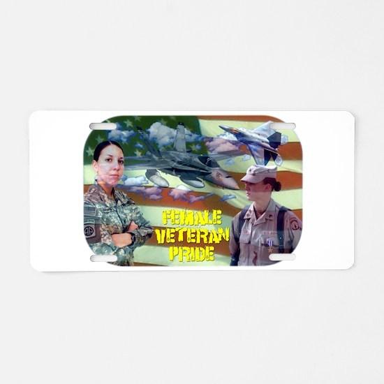 femaleveteranpride.png Aluminum License Plate