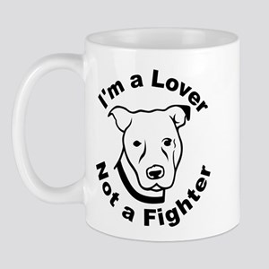 Lover, Not a Fighter Pit Bull Mug