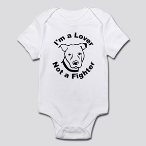 Lover, Not a Fighter Pit Bull Infant Bodysuit