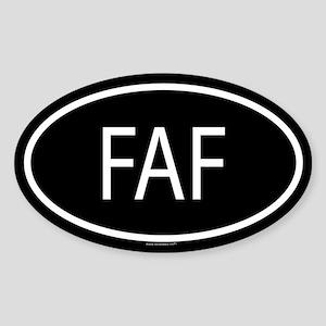 FAF Oval Sticker
