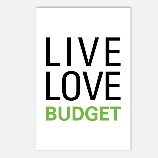 Live Love Budget Postcards (Package of 8)