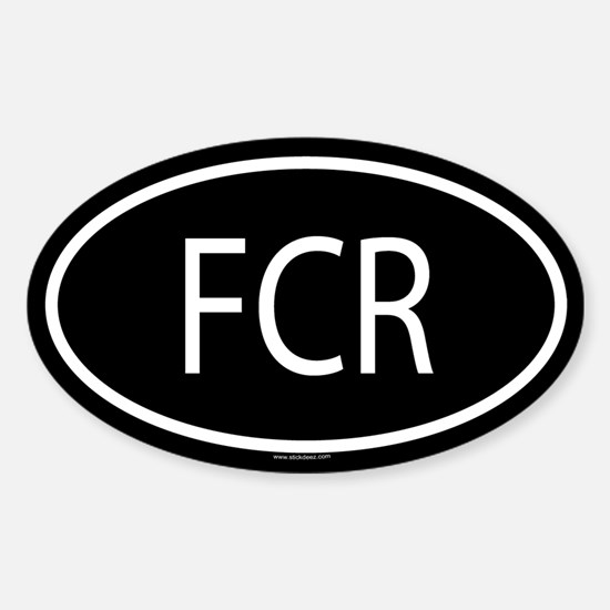 FCR Oval Decal