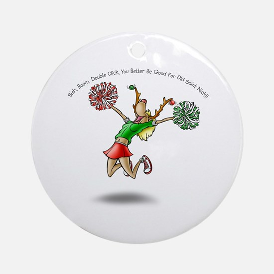 A Little Cheer Ornament (Round)