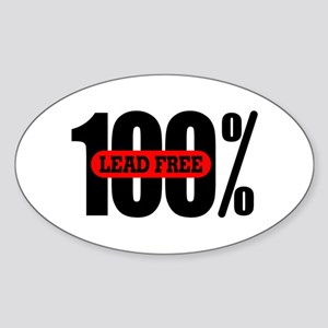 100 Percent Lead Free Oval Sticker