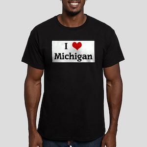 I Love Michigan Ash Grey T-Shirt