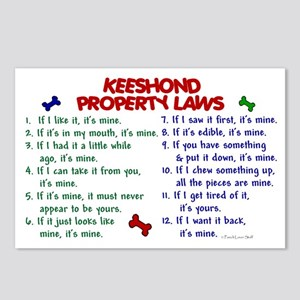 Keeshond Property Laws 2 Postcards (Package of 8)