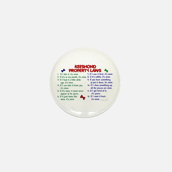 Keeshond Property Laws 2 Mini Button
