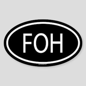 FOH Oval Sticker