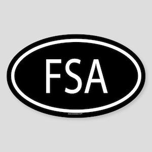 FSA Oval Sticker