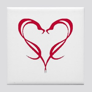 Snake Heart Tile Coaster