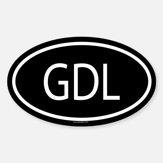 GDL Oval Decal