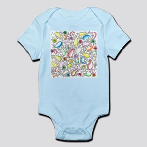 Paisley and Painted Flowers Doodle Infant Bodysuit