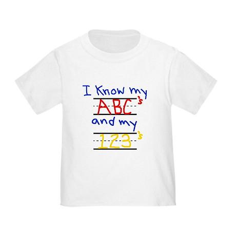ABCs and 123s Toddler T-Shirt