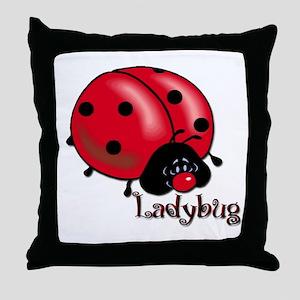 Chubby Lil' Ladybug Throw Pillow
