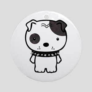 Spike Pit Bull Ornament (Round)