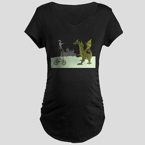 Knight Riding A Tall Bike Slayin Maternity T-Shirt