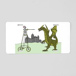 Knight Riding A Tall Bike S Aluminum License Plate