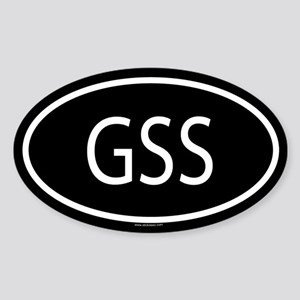 GSS Oval Sticker