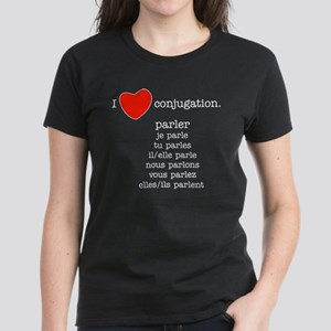 I love conjugation Women's Dark T-Shirt