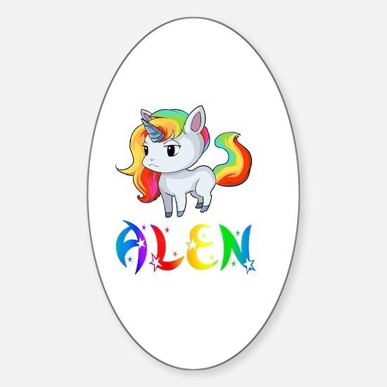 Unique Alen Sticker (Oval)