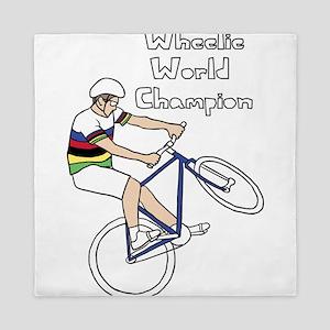 World Champion Wheelie Rider (In Rainb Queen Duvet