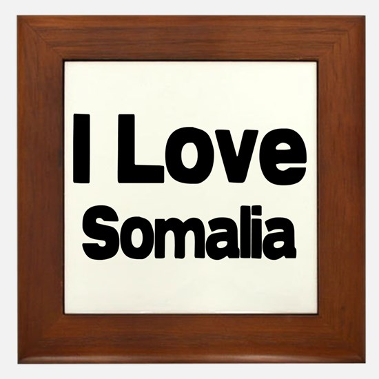I love Somalia Framed Tile