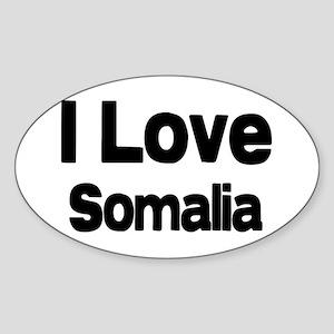 I love Somalia Oval Sticker
