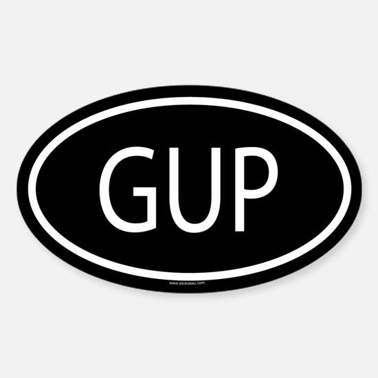 GUP Oval Decal