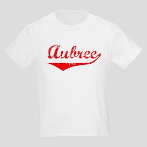 Aubree Vintage (Red) Kids Light T-Shirt