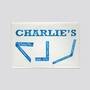 Charlie's ANGLES blue design Rectangle Magnet