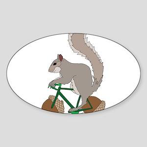 Squirrel On Bike With Acorn Wheels Sticker