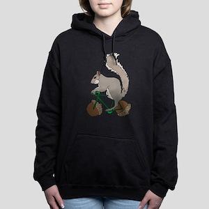 Squirrel On Bike With Ac Women's Hooded Sweatshirt
