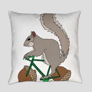 Squirrel On Bike With Acorn Wheels Everyday Pillow