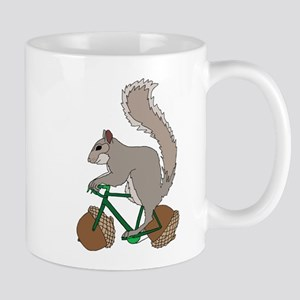 Squirrel On Bike With Acorn Wheels Mugs