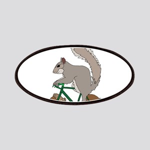 Squirrel On Bike With Acorn Wheels Patch